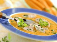 Carrot Bisque with Turkey Pieces recipe