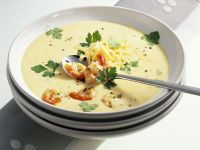 Creamy Cheese Soup with Shrimp recipe