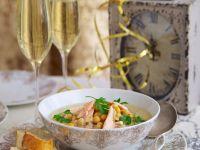 Creamy Chickpea and Smoked Salmon Soup recipe
