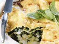 Creamy Green Leaf and Pasta Bake recipe
