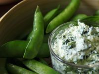 Creamy Kale Dip with Sugar Snap Peas recipe