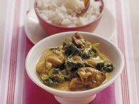 Creamy Lamb Curry with Spinach recipe