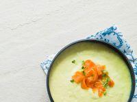 Creamy Leek Soup with Salmon recipe