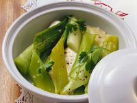 Creamy Leeks with Parsley recipe
