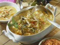 Creamy Lentil and Chicken Soup recipe