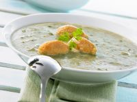 Creamy Mangold Soup with Cheese Dumplings recipe
