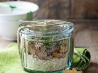 Creamy Mushroom Rice Ingredients recipe