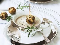 Creamy Mushroom Soup with Dumplings recipe