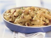 Creamy Noodle Gratin with Leeks and Sun-dried Tomatoes recipe