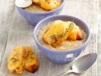 Creamy Onion Soup with Cheese Bread recipe