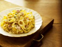 Creamy Pancetta and Pea Pasta recipe