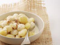 Creamy Pasta Dumplings with Pignoli recipe