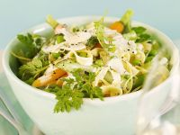 Creamy Pasta with Carrots, Peas and Herbs recipe