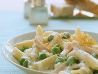 Creamy Pasta with Peas recipe