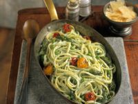 Creamy Pasta with Spring Veg recipe