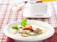 Creamy Potato Soup with Almond Pesto recipe