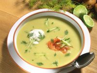 Creamy Potato Soup with Smoked Salmon and Dill recipe