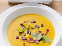 Creamy Pumpkin Soup with Balsamic Vinegar recipe