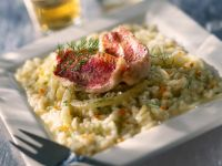Creamy Rice with Fish Fillets recipe