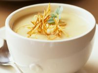 Creamy Root Vegetable Soup with Crispy Rutabaga