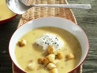 Root Vegetable Bisque with Garnish recipe