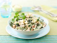 Creamy Salmon and Watercress Pasta recipe