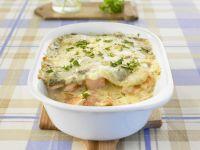Creamy Salmon Lasagne recipe