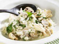 Creamy Spinach and Mushroom Risotto recipe