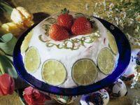 Creamy Strawberry-Lime Gelatin Bombe recipe