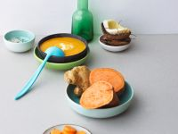 Creamy Sweet Potato and Carrot Soup with Ginger recipe