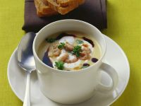 Creamy Vegetable Soup with Shrimp
