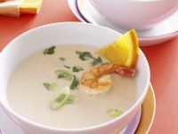 Creamy White Bean Soup with King Prawns recipe
