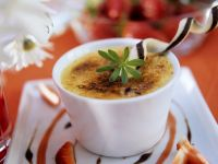 Creme Brulee with Strawberries recipe