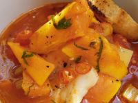 Creole Soup with Sweet Potato and Fish recipe