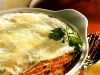 Crepe Vegetable Lasagna with Cheese recipe