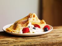 Crepe with Mixed Berry Yogurt Filling recipe