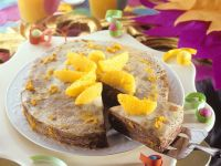 Crêpes Cake with Nut Nougat Cream and Oranges recipe