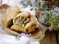 Crepes Filled with Ham Or Herbs recipe