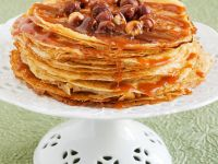 Crepes with Caramel Sauce and Hazelnuts recipe