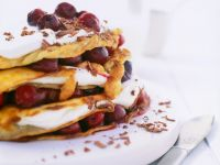 Crepes with Cherries and Whipped Cream recipe