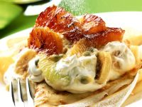 Caremelised Fruit Pancakes recipe
