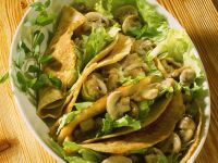 Crepes with Mushroom Stuffing recipe