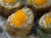 Savoury Pancake Bites with Roe recipe