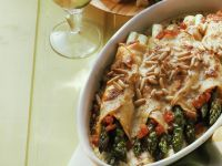 Crespelle with Asparagus and Tomato recipe