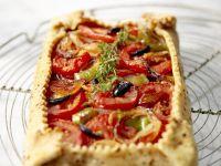 Crinkled Veggie Tartlet recipe