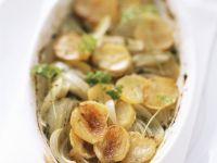 Crisp Potato and Onion Roast recipe