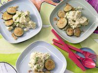 Crisp Zucchini with Creamy Polenta recipe