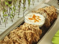 Crispbread with Creamy Herb and Roe Dip recipe