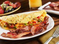 Crispy Bacon with Vegetable Omelette recipe