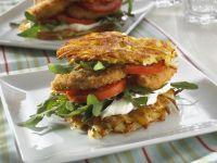 Crispy Chicken Potato Burgers recipe